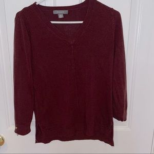 Cranberry colored sweater